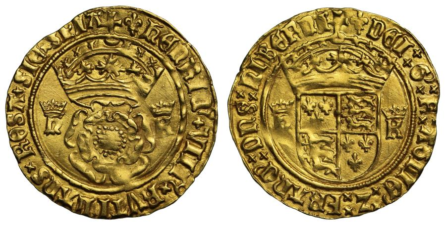 World Coins - Henry VIII gold Crown of the Double Rose