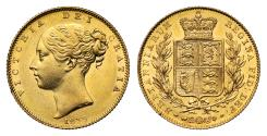 World Coins - Victoria 1839 Sovereign, very rare date