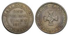 World Coins - 19th century silver token Wiltshire, Marlborough Shilling 1811 Old Bank
