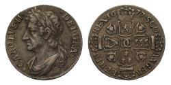 World Coins - Scotland Charles II 1677 Eighth Dollar