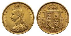 World Coins - Victoria 1890 Jubilee head Sovereign London DISH L511 rare