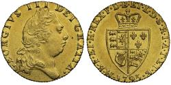 Ancient Coins - George III 1795 gold Guinea, spade type