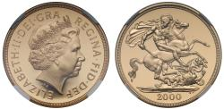 World Coins - Elizabeth II 2000 proof Two-Pounds PF69 ULTRA CAMEO