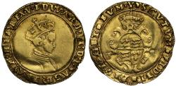 World Coins - Edward VI second period crowned bust Half-Sovereign Southwark Mint
