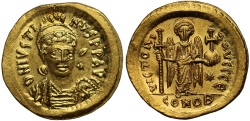 Ancient Coins - Justin I, Gold Solidus