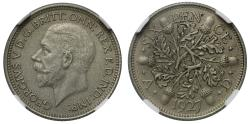 World Coins - George V 1927 matt proof Sixpence PF64