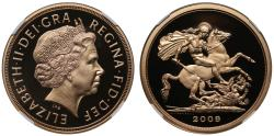 World Coins - Elizabeth II 2009 proof Five-Pounds PF69 ULTRA CAMEO