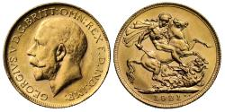 World Coins - George V 1921 P Sovereign, Perth Mint