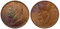 World Coins - Ireland, George IV 1822 copper Penny
