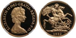 World Coins - Elizabeth II 1982 proof Two-Pounds PF69 ULTRA CAMEO