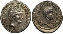Ancient Coins - Mark Antony and Octavian, Silver Denarius