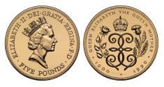 World Coins - Elizabeth II 1990 Gold Proof Crown Queen Mother