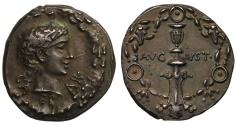 Ancient Coins - Augustus, Silver Denarius