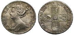 World Coins - Anne 1709 Halfcrown, plain reverse