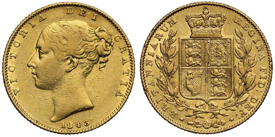World Coins - Victoria 1843 Sovereign