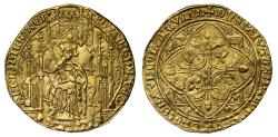 World Coins - Anglo Gallic, Edward the Black Prince Pavillon d'Or, lion in first quarter