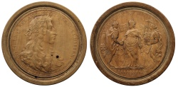 World Coins - Act of Toleration, 1689, Boxwood Draughtsman.