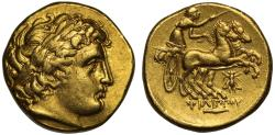Kingdom of Macedon, Philip II gold Stater, posthumous issue, mint of Magnesia