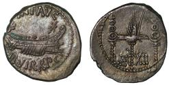 Ancient Coins - Mark Antony, Legionary Denarius