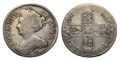 World Coins - Anne 1709 E* Shilling