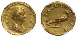 Diva Faustina Snr, gold Aureus, NGC Ch XF, 4/5, 3/5.