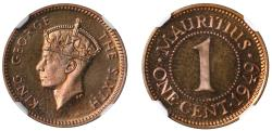 World Coins - Mauritius, Proof Cent, 1949.