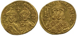Ancient Coins - Constantine V, Gold Solidus