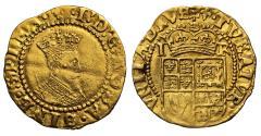 World Coins - James I gold Halfcrown 2nd Coinage, 1st bust, mm lis (1604-05)