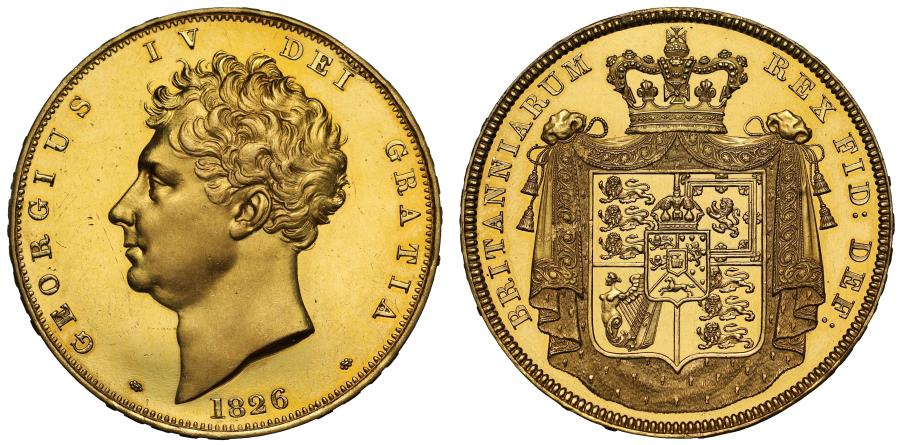 World Coins - George IV 1826 proof Five-Pounds