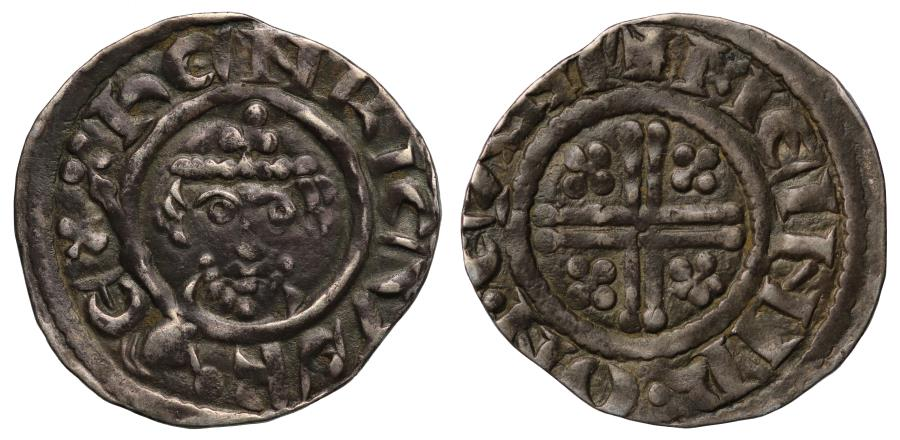 World Coins - Richard I Penny Canterbury class IVa, moneyer Meinir