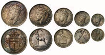 World Coins - Southern Rhodesia 1937 5-coins Proof set
