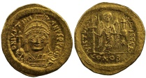 Ancient Coins - Justinian I, Gold Solidus
