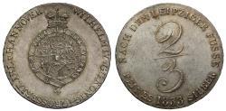 World Coins - Germany, Brunswick and Luneburg 1833 2/3-Thaler