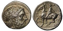 Ancient Coins - Kingdom of Macedon, Philip II, Silver Tetradrachm
