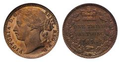 World Coins - Victoria 1876 bronze proof Third-Farthing CGS 92 unrecorded proof