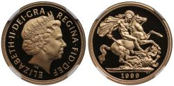 World Coins - Elizabeth II 1999 proof Sovereign PF69 ULTRA CAMEO