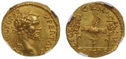 Septimius Severus, Legionary gold Aureus, Ch AU* 5/5, 3/5.
