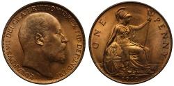 World Coins - Edward VII 1910 Penny