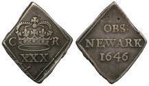 World Coins - Charles I 1646 Newark Halfcrown