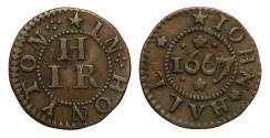 World Coins - John Hall, Honiton, Devon, 1667 Token