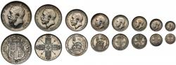 World Coins - George V 1911 8-coin silver proof Set (cased)