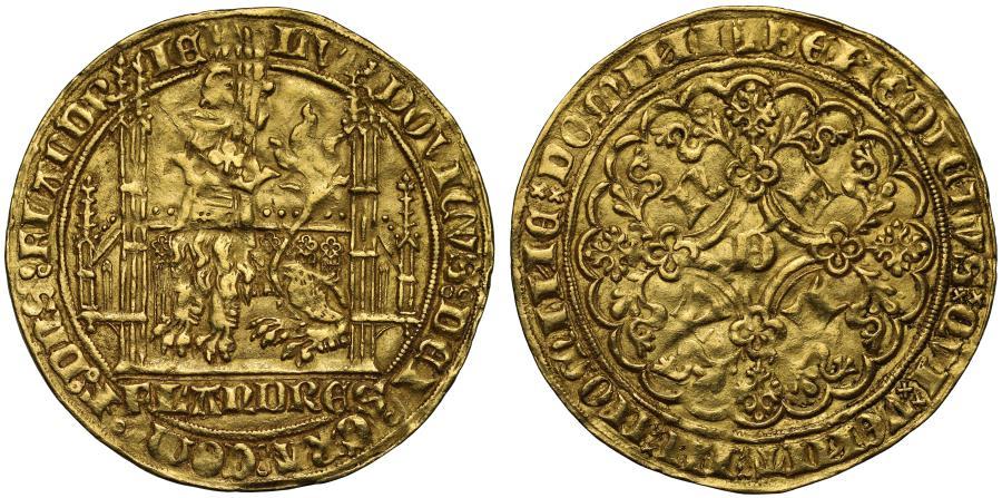 World Coins - Belgium, Flanders, Louis de Male Lion d'Or