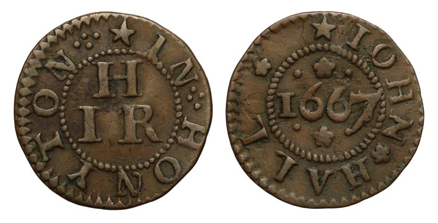 World Coins - John Hall, Honiton, Devon, 1667 Token