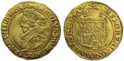 World Coins - Charles I gold Unite, Tower group B, second bust, mm castle