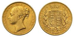 World Coins - Victoria 1839 Sovereign, very rare second year for the reign, small mintage