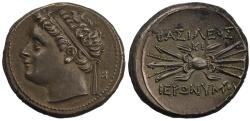 Ancient Coins - Sicily, Syracuse, Hieronymous, Silver 10 Litrai
