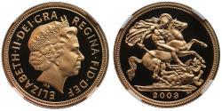 World Coins - Elizabeth II 2003 proof Half-Sovereign PF70 ULTRA CAMEO