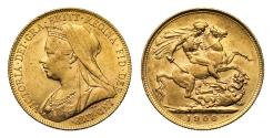 World Coins - Victoria 1900 P Sovereign, Perth Mint
