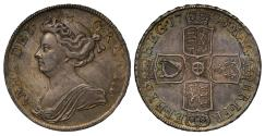 World Coins - Anne 1708 Halfcrown