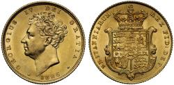 World Coins - George IV 1826 Sovereign bare head